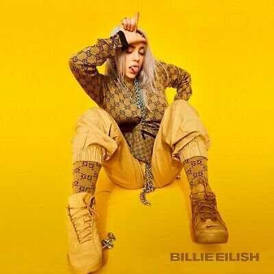"Billie Eilish Poster Music Artist Art Print Size 12x12"" 18x18"" 24x24"" 32x32"""