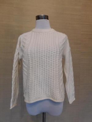 MADEWELL J. CREW Cableknit Pullover Sweater Size X Small  98 H3385 ... bfe6bd495