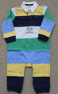 Chaps 3 6 M Ralph Lauren Romper Coverall Pants Polo L//S Boys NWT Blue Footed