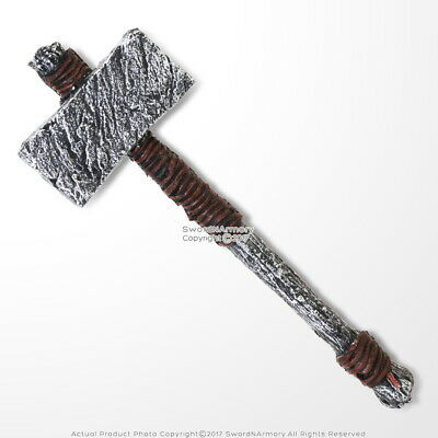 "25"" Viking Prehistoric Bronze Age Foam Hammer LARP Cosplay God Thunder Costume"