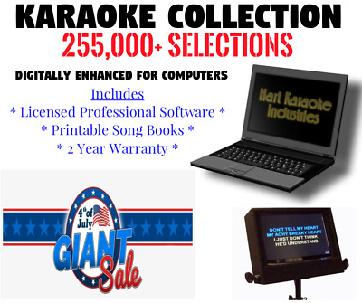Karaoke Collection - USB Hard Drive - Licensed Software - 2 Year Warranty