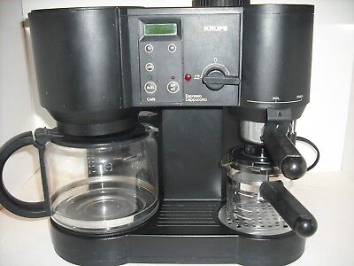 Krups 867 Caffe Bistro 10 Cup Coffee & 4 Cup Expresso Maker Made in Switzerland