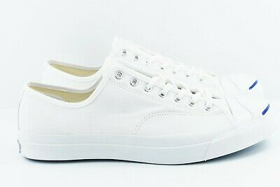 NEW MENS 12 Converse Jack Purcell JP Signature OX White Canvas  90 ... 73ae50921