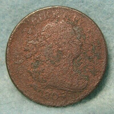 1805 DRAPED BUST HALF CENT * US Coin