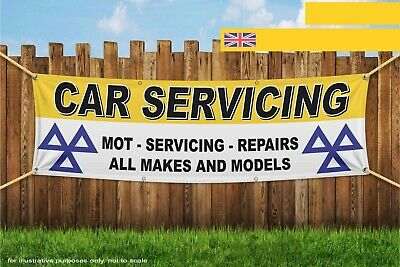 Car Servicing MOT Service Repairs All Makes Gara Heavy Duty PVC Banner Sign 4248