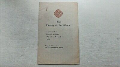Denstone College The Taming Of The Shrew Programme 1952 Staffordshire History