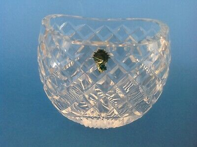Waterford oval Lead Crystal deep cut Glass Vase / Bowl made in Ireland