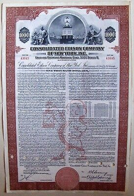 now DTE Energy Electric The Detroit Edison Company USD 1,000 old bond 1989