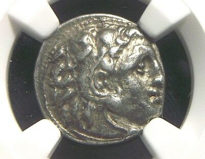 Greek Silver Drachm of Alexander III the Great, 336-323 BC NGC XF   6007
