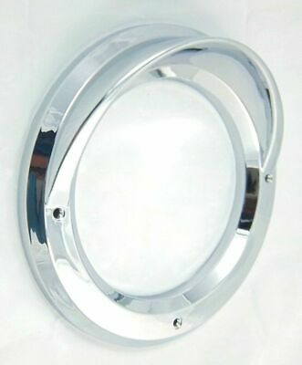 "light bezel 4"" round visor chrome plastic for Kenworth Peterbilt Freightliner"