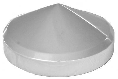 "hub caps(4) rear 8"" ID cone point stainless for Freightliner Kenworth Peterbilt"