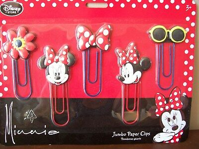 Minnie Mouse Jumbo Paper Clips - New
