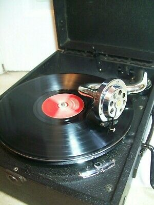 Antique His Masters Voice Gramophone Record Player All Working Fine Example