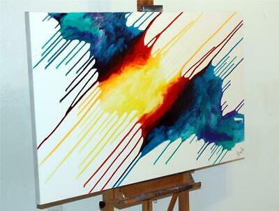 Large Original Modern Colorful Fine Art Abstract Painting Tara Baden Signed