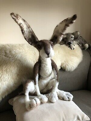 SALE!!!Needle  Felted Rabbit Hand Made! Gorgeous!!one Of A Kind!!!