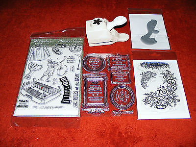 New Sealed Embossing Stamps Plus One A Martha Stewart Stamp Press