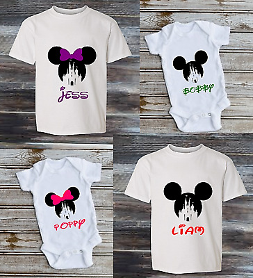 Personalised disney mickey mouse STYLE new babygrow T-SHIRT GIFT kids top KT25