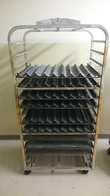Bakery Oven Rack + 15 Baguette Trays (Demarle Siltray)