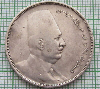 Egypt Fuad 1923 - Ah 1341 H 10 Piastres, Silver