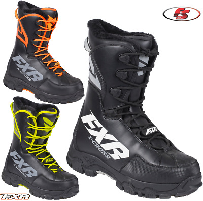 New 2019 FXR X-Cross Men's Speed Boot Black/Orange/Hi-vis Snowmobile 11 13