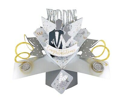Wedding Pop Up 3D Card Unique Wedding Gift Card For Bride and Groom