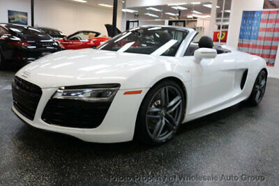2014 Audi R8 Spyder 2dr Conv Auto quattro Spyder V10 CARFAX CERTIFIED. CALL 954-744-1177. NATIONWIDE SHIPPING . VIEW IMAGES