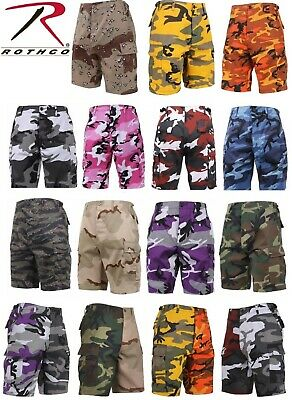 Army BDU Cargo Shorts Button Fly Camouflage Military Rothco Combat Shorts