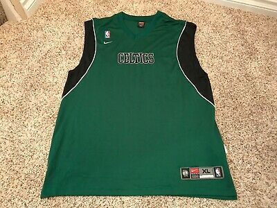 abe2b4aae1b64a Boston Celtics Nike Team Dri Fit Nba Men s Xl Basketball Jersey Tank Green  Euc