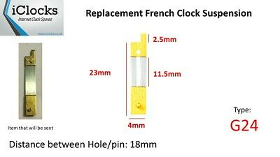 Brass French Clock Pendulum Suspension Spring. (23mm x 11.5mm x 4mm)  (G24)