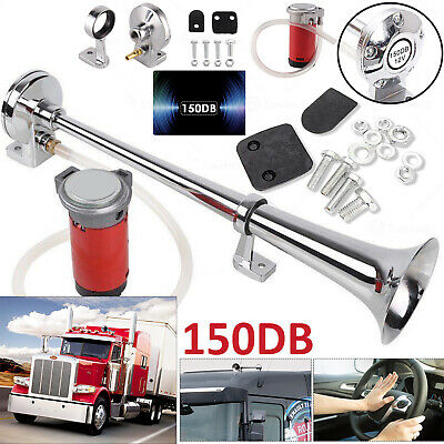 150Db Loud Single Trumpet Air Horn 12V Compressor For Car Truck Train Boat Lorry