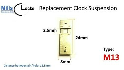 Steel Clock Pendulum Suspension Spring. (24mm x 2.5mm x 8mm) (Type M13)