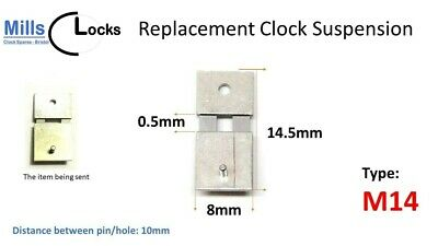 Steel Clock Pendulum Suspension Spring. (14.5mm x 0.5mm x 8mm) (Type M14)
