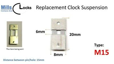 Steel Clock Pendulum Suspension Spring. (20mm x 6mm x 8mm) (Type M15)
