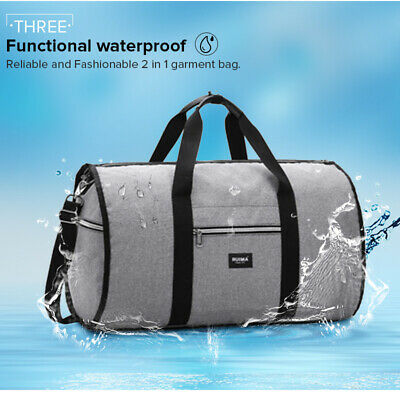 New 2 in 1 Travel bag Shoulder Luggage Hangeroo Two-In-One Garment Bag Duffle ✅