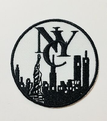 Embroidered New York Patch (RD)-- Iron/Sew-on Patch Souvenir Gift Collectible