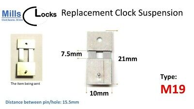 Steel Clock Pendulum Suspension Spring. (21mm x 7.5mm x 10mm) (Type M19)