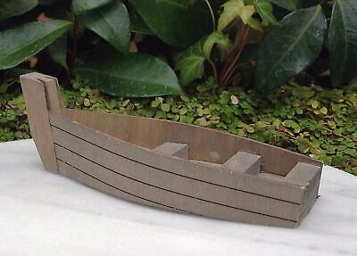 Miniature Dollhouse Fairy Garden Wood Fishing Boat - Buy 3 Save $5