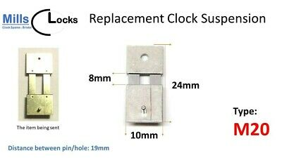 Steel Clock Pendulum Suspension Spring. (24mm x 8mm x 10mm) (Type M20)