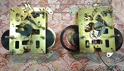 Clock Movement Lot - Two (2) Japanese movements for parts or repair