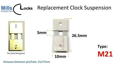 Steel Clock Pendulum Suspension Spring. (26.5mm x 5mm x 10mm) (Type M21)