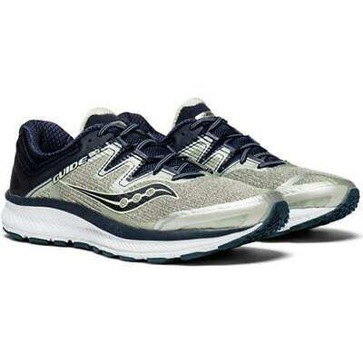 SAUCONY GUIDE ISO Grey Navy Mens Running Shoe