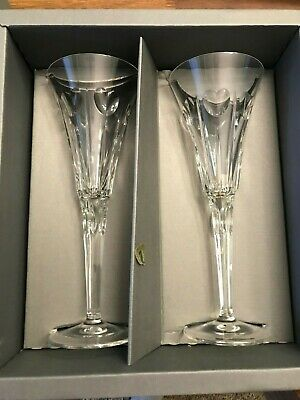 Waterford Millennium Collection Pair Of Toasting Flutes In Box Love