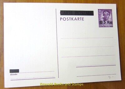 EBS Germany 1940 Postal Card Occupied Luxembourg Luxemburg 5 Pfennig - Michel P6