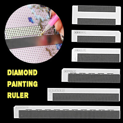 DIY Diamond Painting Ruler with 216 Blank Grids for Diamond Painting Round Drill