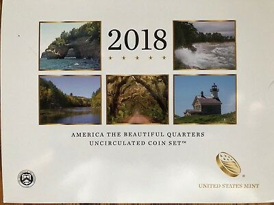 2018 US Mint America the Beautiful Quarters Uncirculated Coin Set - all 10 - NEW