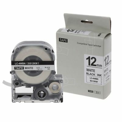 Black on White Label Tape Compatible Epson Label Tapes 12mm For LW-300 LW-400