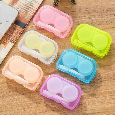 2pcCute Mini Portable Travel Contact Lens Case Box Container Holder Eye Care Kit