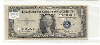 1935-F $1 Fr-1615 George Washington 4980 Blue Seal Silver Certificate Bank Note