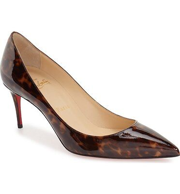 buy popular b4f71 5f252 NEW AUTH CHRISTIAN Louboutin Decollete 554 70 Leopard Print Pointed Pumps  36.5