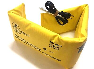 "Car Battery Warmer/Blanket 80 Watts 125 Volts; Pyroil Made In Canada 35"" by 6"""